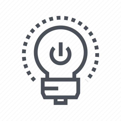 bulb, electric, energy, on, power icon