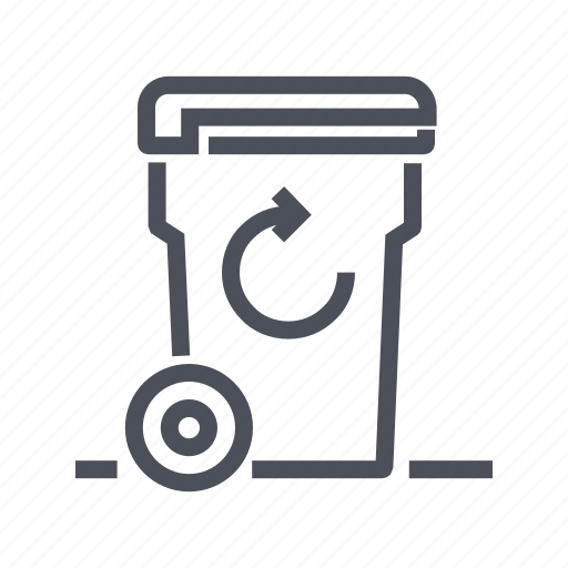 bin, garbage, recycle, recycling, trash icon