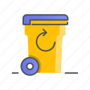 bin, delete, garbage, recycle, recycling, trash icon
