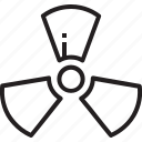energy, nuclear, power, radiation, sign icon