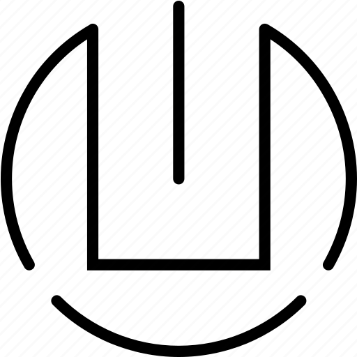 log out, power, power off, power on, shutdown icon