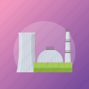 factory, firm, industrial site, mill, power plant icon