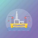 bridge construction, construction, engineering, factory, industrial work, mill icon