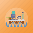 dam, hydraulic energy, hydroelectric power, hydropower plant, power generation icon