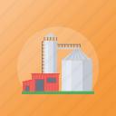barn, farm silo, industry, mill, silo icon