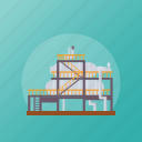 factory, firm, industry, mill, process plant icon