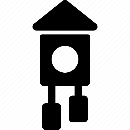 bird, clock, cuckoo, decoration, house, time, wall icon