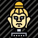 archaeology, artifact, buddha, head, religion