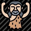 ancient, caveman, neanderthal, prehistoric, primitive