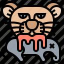 animals, hunter, predator, prey, tiger