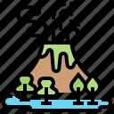 eruption, geomorphology, lava, magma, volcano