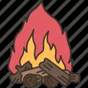 bonfire, campfire, fire, flame, warmth