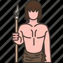 nomad, caveman, human, hunt, barbarian