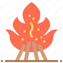 bonfire, burn, camping, fire icon