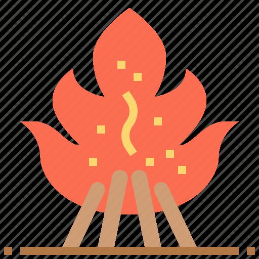 bonfire, burn, camping, fire icon