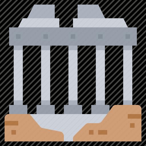architecture, building, civilization, rome icon