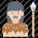 avatar, human, man, neolithic, prehistoric icon