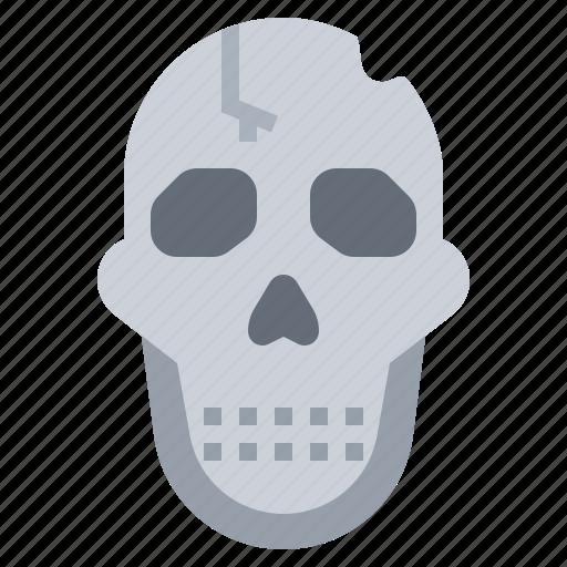dead, die, skeleton, skull icon