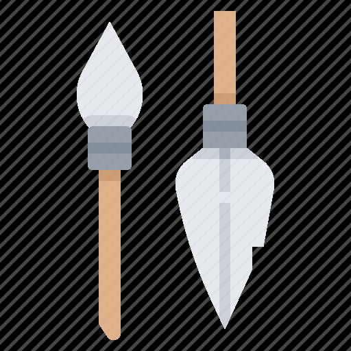 knife, prehistoric, spear, stone, weapon icon