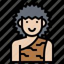 avatar, caveman, human, man, prehistoric icon