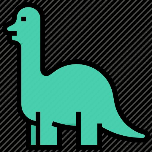 Animal, brachiosaurus, dino, dinosaur icon