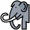 animal, elephant, mammoth, prehistoric icon