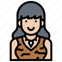 avatar, human, neolithic, prehistoric, woman icon
