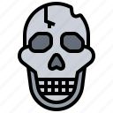 dead, die, skeleton, skull icon