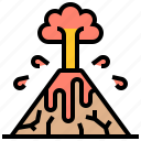 crater, eruption, lava, mountain, volcano icon