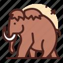 elephant, medieval, ancient, civilization icon