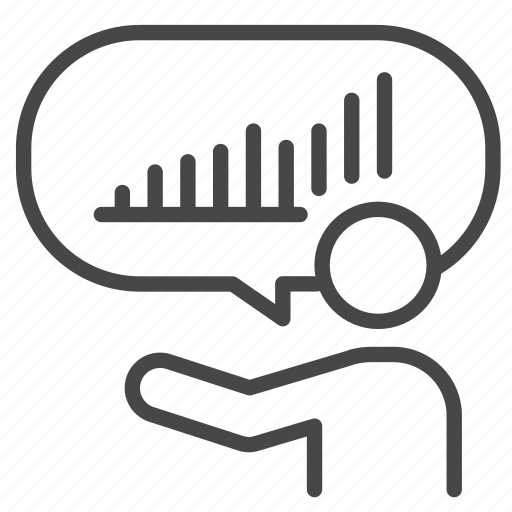 moderator, present, presentation, report, speaker icon