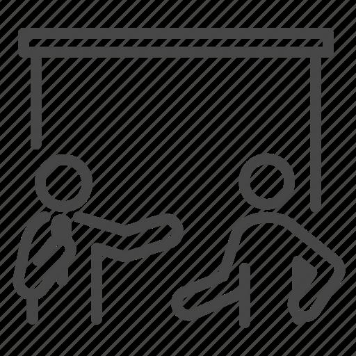 present, presentation, report, speakers icon