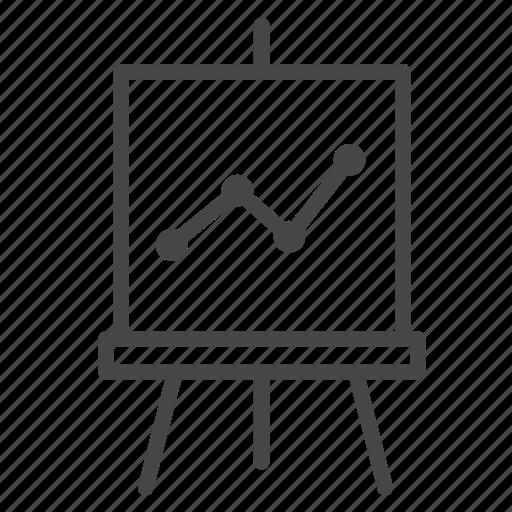board, graph, present, presentation, report icon