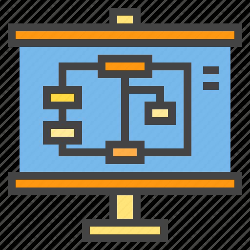 algorithm, business, chart, presentaion, presentation, statistic icon