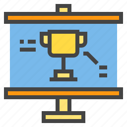 award, business, chart, presentaion, presentation, statistic icon