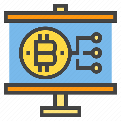 bitcoin, business, chart, presentaion, presentation, statistic icon