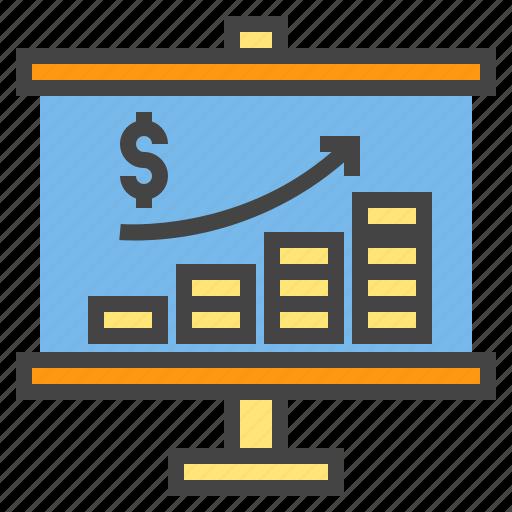 business, chart, money, presentaion, presentation, statistic icon