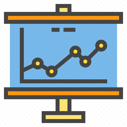 business, chart, presentaion, presentation, report, statistic icon