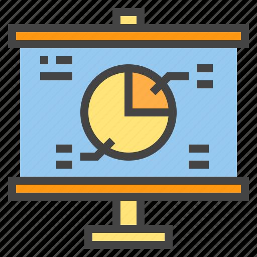 business, chart, circle, presentaion, presentation, report, statistic icon