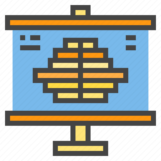 business, chart, graph, presentaion, presentation, statistic icon