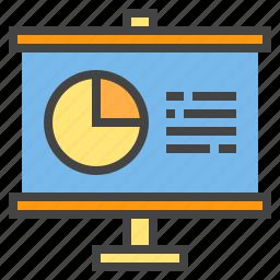 business, chart, graph, presentaion, presentation, report, statistic icon