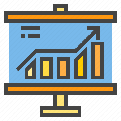 business, chart, level, presentaion, presentation, statistic, up icon