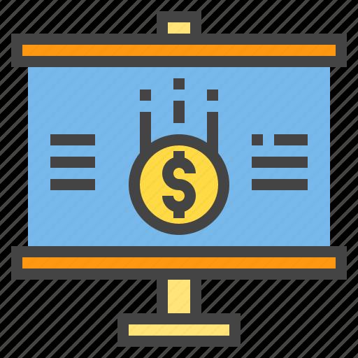 Business, chart, money, presentaion, presentation, statistic icon - Download on Iconfinder