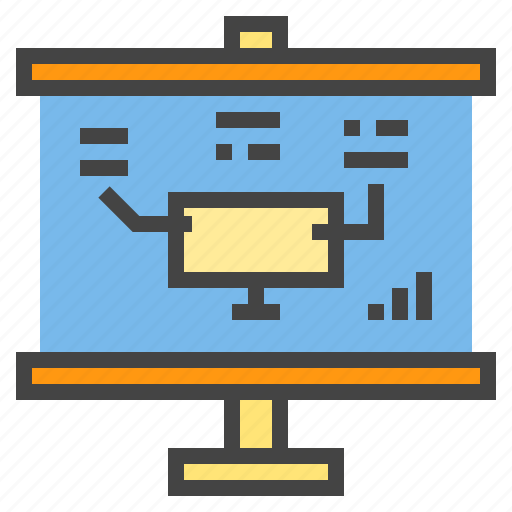 business, chart, online, presentaion, presentation, report, statistic icon