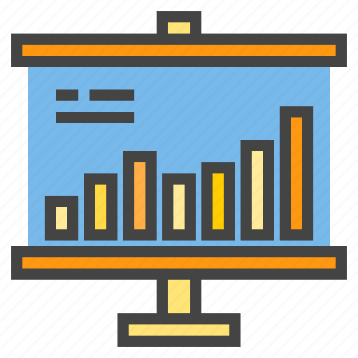 business, chart, presentaion, presentation, report, statistic icon