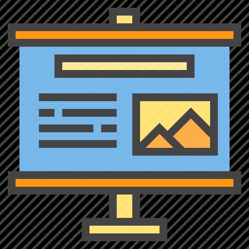 business, chart, presentaion, presentation, statistic, travel icon