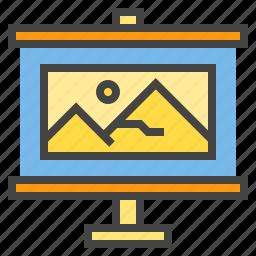 business, chart, presentaion, presentation, statistic, travel, trip icon