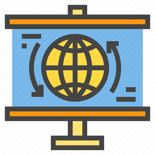 business, chart, connection, presentaion, presentation, statistic, world icon