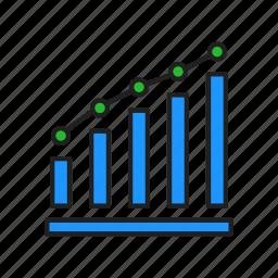 bar graph, chart, graph, growth icon