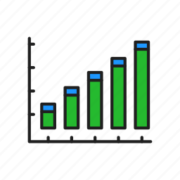 bar graph, chart, graph, growth icon